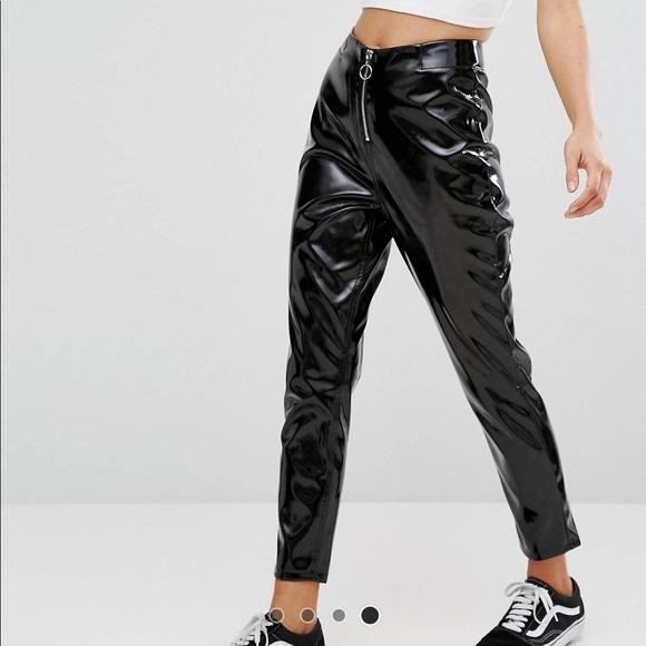 ASOS Pants - Vinyl Zip Front Pants